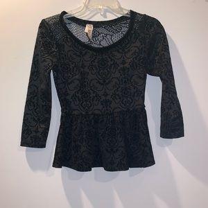 Tops - 3 for $15 Black peplum blouse.
